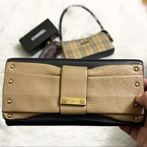 FIRM 💯% authentic CHLOE Glam Bow/Ribbon Clutch